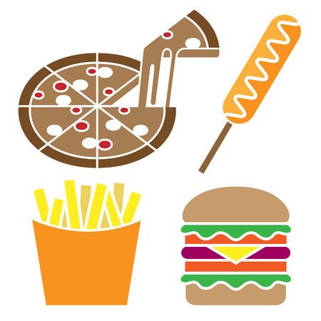 comida americana: American Food Set grandes para cualquier uso, Vector EPS10.