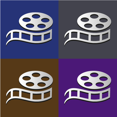 film set: Film set icon set great for any use, Vector EPS10.