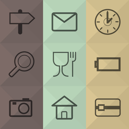 len: Technology and office icons set great for any use. Vector EPS10.