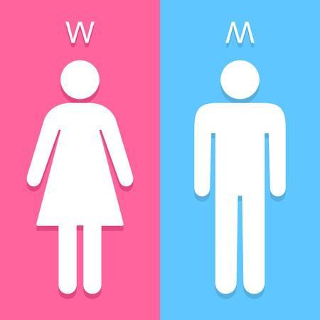 toilete: Los hombres y las mujeres aseo firman grandes para cualquier uso. Vector EPS10. Vectores