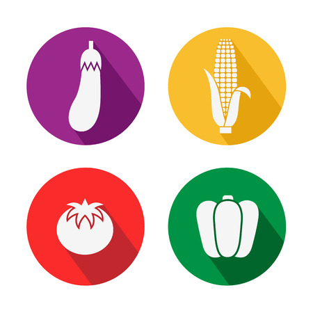 corn icon: Set of vegetables icon great for any use, Vector EPS10.