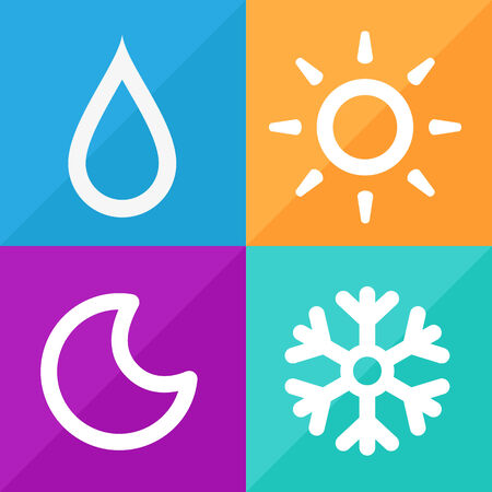 day forecast: Forecast Weather Signs set great for any use, Vector EPS10.