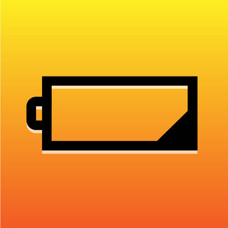 low battery: Low battery icon great for any use. Vector EPS10. Illustration