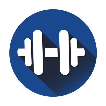 hand lifting weight: Dumbbell icon great for any use. Vector EPS10.