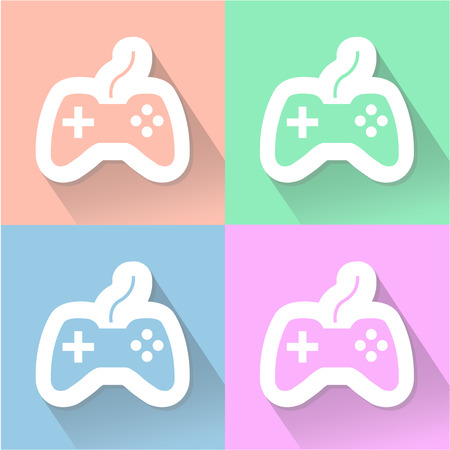 joypad: Game controller icon great for any use. Vector EPS10. Illustration