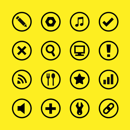 len: Website buttons and icons great for any use, Vector EPS10.