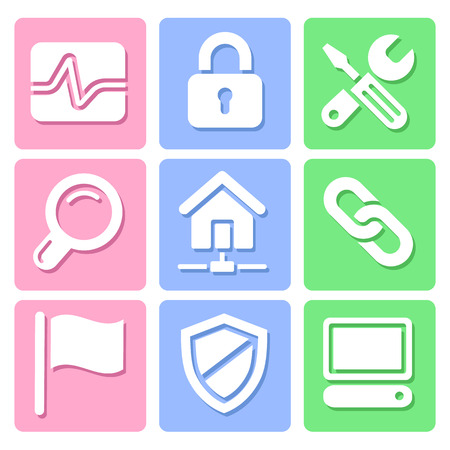 len: Pastel Website icons set great for any use, Vector EPS10.