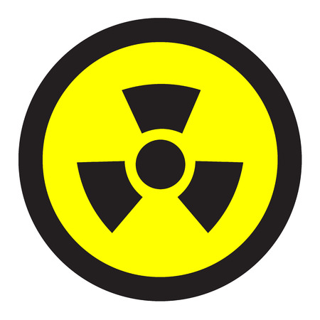 biological waste: Biohazard icono de grandes para cualquier uso. Vector EPS10. Vectores