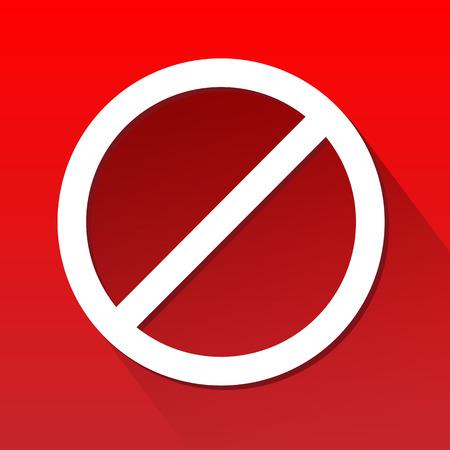 no pase: No deje pasar firmar grandes para cualquier uso, Vector EPS10.