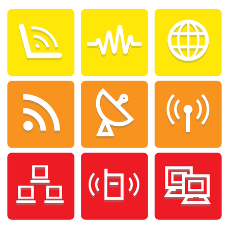 sattelite: Internet and communication icons set great for any use. Vector EPS10.