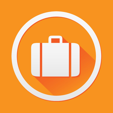 shiny suit: Briefcase icon great for any use. Vector EPS10.