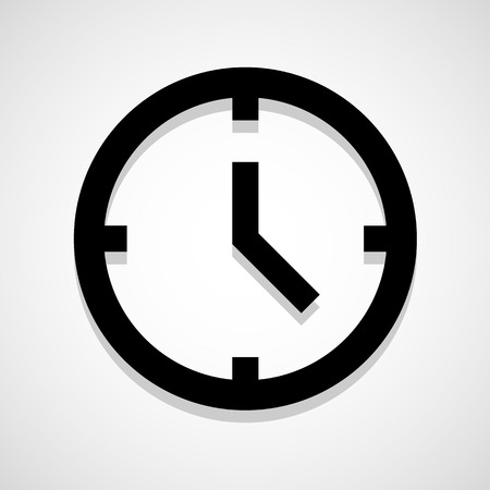 Clock icon great for any use. Vector EPS10. Vector
