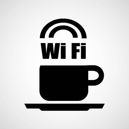 Cofee Wifi icon great for any use. Vector EPS10. Vector