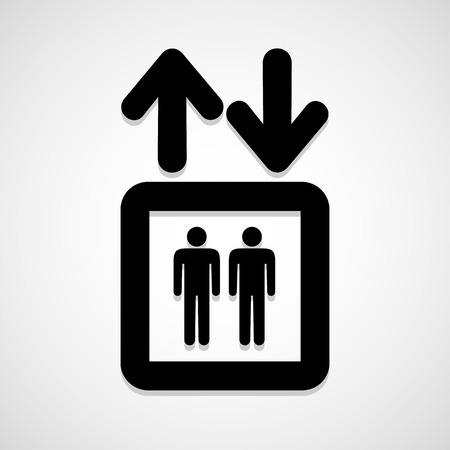 Elevator icon great for any use. Vector EPS10.