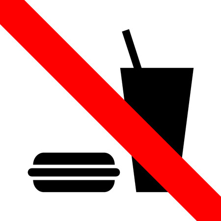 No eating icon great for any use. Vector EPS10. Vector