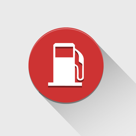 Gas pump icon great for any use. Vector EPS10. Vector