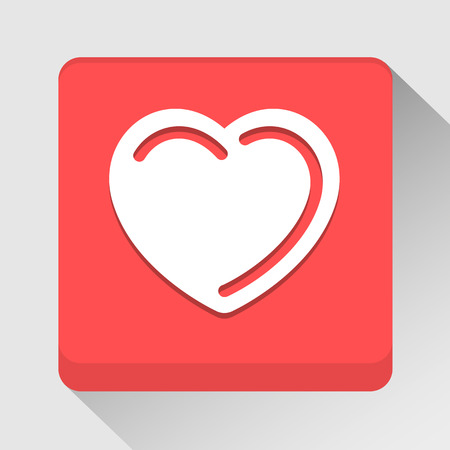 Heart icon great for any use. Vector EPS10. Vector