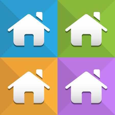white house: Home icons set great for any use. Vector EPS10. Illustration
