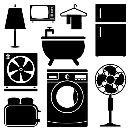 Electronics Home icons set great for any use. Vector EPS10. Stock Illustratie
