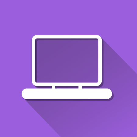 Computer Notebook icon great for any use. Vector EPS10. Vector