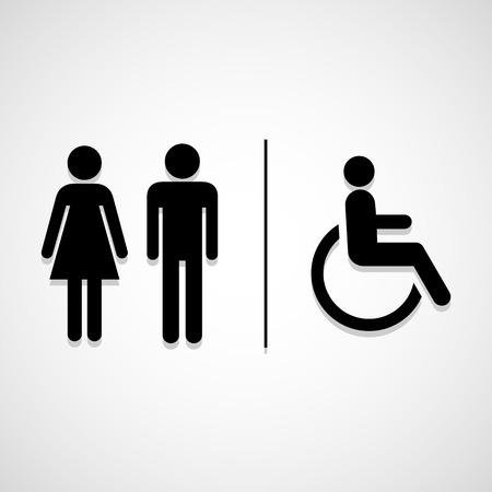 Toilet tekenen icon groot voor elk gebruik. Vector EPS10.