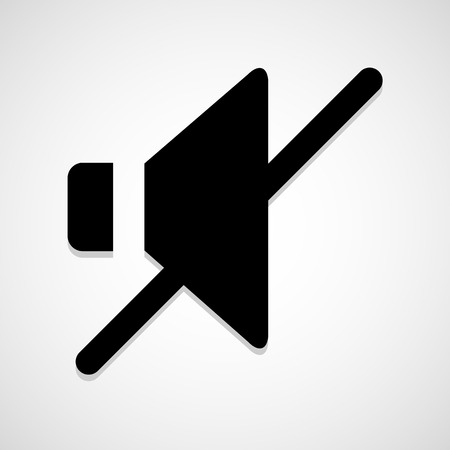 No sound icon great for any use. Vector EPS10. Illustration
