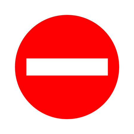 one lane road sign: Stop icon great for any use. Vector EPS10. Illustration