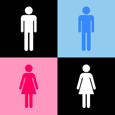 Toilet icons set great for any use. Vector EPS10. Vector