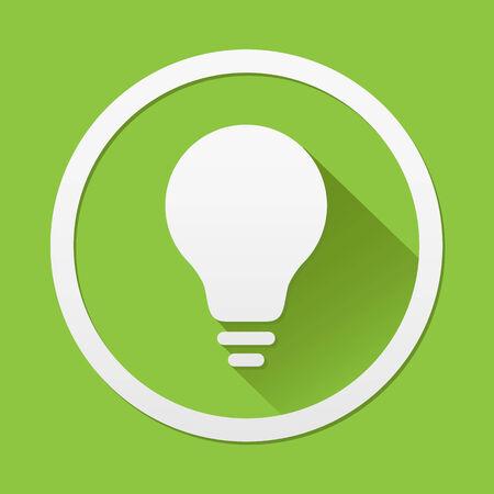 green light bulb: Green Light bulb icon great for any use. Vector EPS10. Illustration