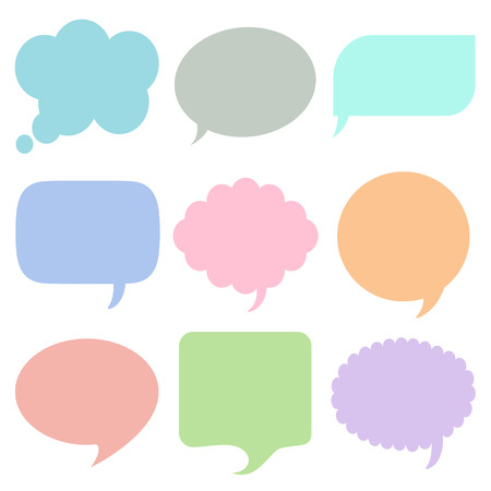 Bubbles for speech icons set great for any use. Vector EPS10.