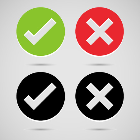 any: Check mark icons set great for any use. Vector EPS10.