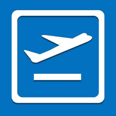 private jet: Airplane icon great for any use. Vector EPS10.