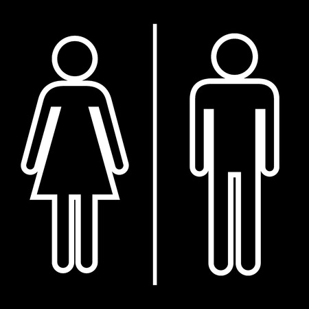 changing room: Toilet icon great for any use. Vector EPS10.