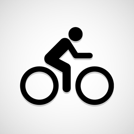 A man Bike icon great for any use. Vector EPS10. Vettoriali