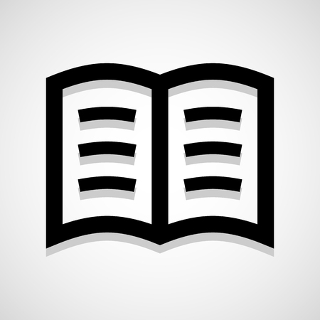 electronic publishing: Book icon great for any use. Vector EPS10. Illustration