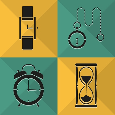 Time icons set great for any use. Vector EPS10. Vector