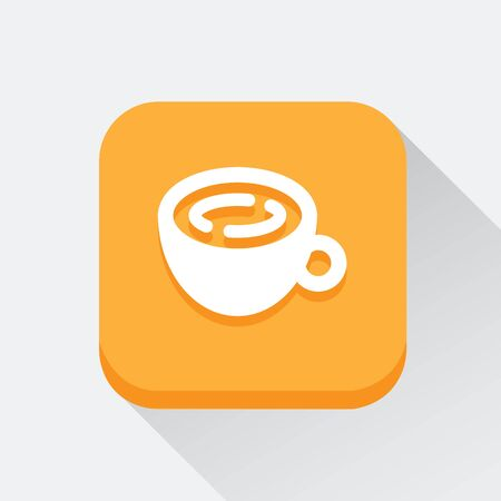 great coffee: Coffee cup icon great for any use. Vector EPS10.