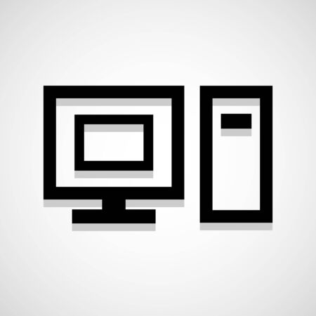 Computer icon great for any use. Vector EPS10. Vector
