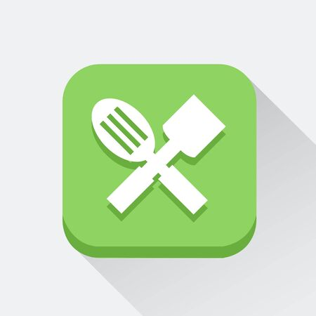 Spoon and turner icon great for any use. Vector EPS10.