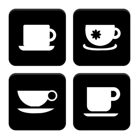Coffee cup icons set great for any use. Vector EPS10. Vector