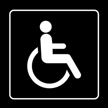 crippled: Disabled person sign icon great for any use. Vector EPS10.