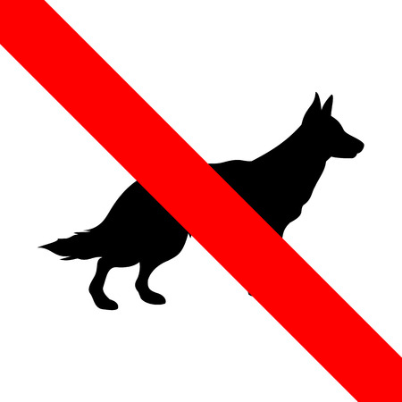 No dogs sign icon great for any use. Vector EPS10. Vector