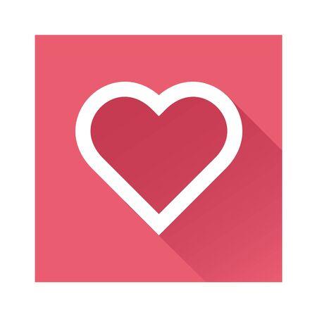 cuore: Icona del cuore grande per qualsiasi uso.