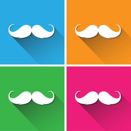chaplin: Hipster mustache icons set great for any use.  Illustration