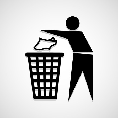 dustbin: Trash bin icon great for any use.