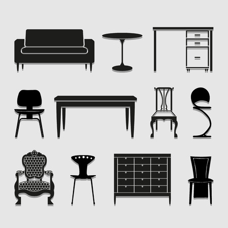 Furniture icons set great for any use.