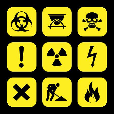 laser hazard sign: symbols warning hazard icons set great for any use.