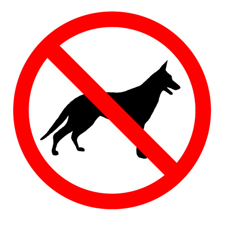 No dogs sign icon great for any use.  Vector