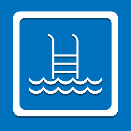 no diving sign: Swimming Pool icon great for any use. Illustration