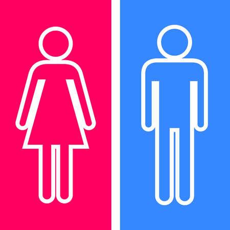 man and women wc sign: Toilet icon great for any use. Vector EPS10.
